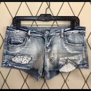 Hippie Laundry Denim Shorty Shorts Size 11